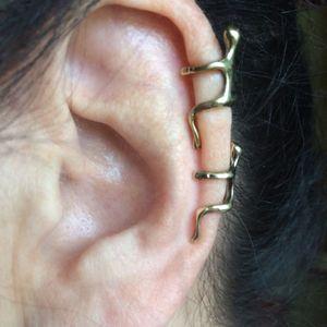 Gümüş / Altın Küpe Kulak Klipsi Tırmanma Adam Tırmanıcı Kulak Manşet Helix Klip Küpe Piercing Olmadan Kıkırdak Küpe Bijoux Femme