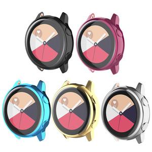 Ersatz-Schutzhülle für Samsung Galaxy Uhr Active SM-R500 Smart Watch Galvanisch beschichtetes 360-Grad-Schutzgehäuse Kratzfest