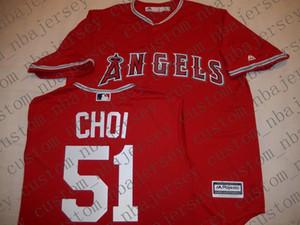 Cheap personalizzato Anaheim JI-MAN CHOI Baseball maglie cucita Retro Mens pullover Personalizza qualsiasi numero nome UOMINI DONNE GIOVANI XS-5XL