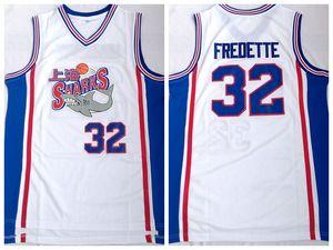 Jimmer Fredette # 32 Shangai Sharks Men's Basketball Jersey White S-2XL Todos los deportes cosidos Camisa deportiva al por mayor Drop Shipping