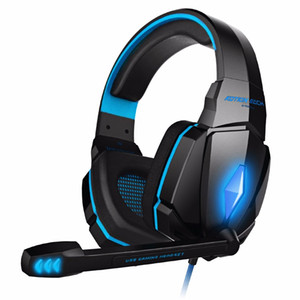 G4000 Gaming Headset 2.2M 스테레오 사운드 유선 헤드폰 유선 마이크 LED 스마트 폰 PC 컴퓨터 용 LED 소음 감소