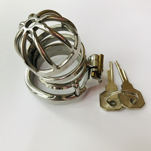 2021 Ergonomics Curved Stainless Steel Male Chastity Device Cock Cage Adult Game Penis Ring Lock Bondage Adult Products Sex Toy C032