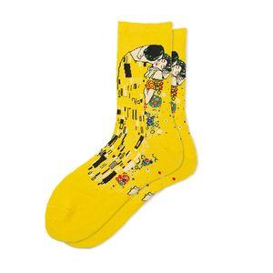 Diseñador de los hombres calcetines calcetines para hombre con carácter impreso de lujo con muchos colores de moda Caliente Marca Medio corto calcetines al por mayor