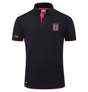 2019 Nouvelle Mode Classique Designer Polos Shirt Union Drapeau Imprimer Marque D'été Polos Hommes Coton T-shirt À Manches Courtes Sport Wear Livraison Gratuite