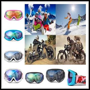 Çift Katmanlar Anti-sis Kayak Gözlük Snowboard Kış Karmobil Motokros Güneş Windproof UV Koruma Açık Spor Gözlük Maske