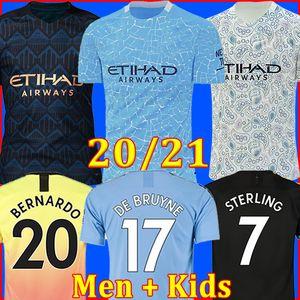 ТОП 20 21 футбол манчестер сити MAN 2021 2020 г. Г. ИИСУС МАХРЕЗ ДЕ БРУЙН КУН АГЕРО футболка MENDY MAN форменная одежда для мужчин и детей