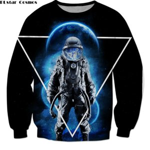 PLstar Cosmos Drop shipping 2018 New Fashion Men Sweatshirt Dead Space astronaut Print 3d Unisex Casual pullovers