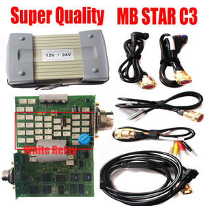 2019 Super C3 MB Star C3 Multiplexer mb sd connect compact 3 full chip white relay with cable diagnostic tools No HDD diagnosis