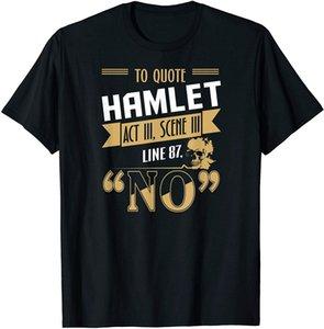 To Quote Hamlet No Tshirt Sarcastic Quote Skull Book Art T Vintage Men Gift