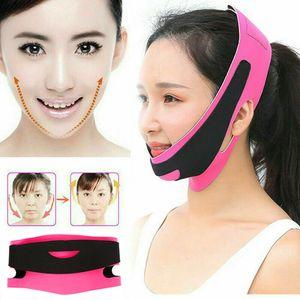 얼굴 턱 뺨 들어 체중을 줄이는 슬림 마스크 매우 얇은 스트랩 밴드 여성 감소중턱 피부 얼굴 마사지 기계 피부 관리