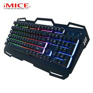 Gaming Keyboard 104Keys Backlight Wired USB Keyboard RGB For Tablet Desktop Mechanical Touch Game Mouse Through Translucent