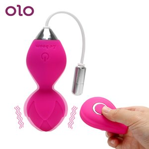 Olo Vibrator Kegel Ball Vibrating Egg Wireless Remote Control Exercise Vaginal Tightening Sex Toys For Women Clitoris Stimulator SH190802