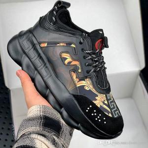 2020 Erkekler Günlük Moda Lüks Yetiştirme Zincir Sneakers Konfor Ayakkabı Kadın Platformu Creeper Bayan Casual Flats Tenis ayakkabısı