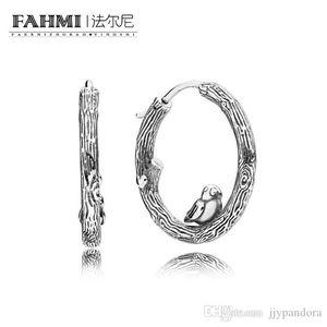 Donia% 100 925 Gümüş 1: 1 Orijinal Bahar Kuş Hoops 297072 Glamour saplama Küpe Moda Kadın Düğün Takı