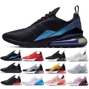 2019 Yeni Gelenler tam renkli Erkek beyaz siyah Üçlü Siyah Eğitmen Spor Koşu Ayakkabıları tek minder Sneakers Boyutu 36-45 Womens