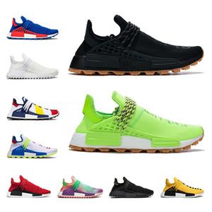 Adidas NMD Human Race Atacado corrida humana tênis Nerd preto Em Branco Canvas Pharrell Williams mens trainer mulheres sapatilha moda esportes sapato tamanho 5.5-12