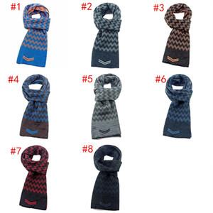 Unisex calientes UUA bufanda reversible bajo enfrentado doble bufandas rectángulo suave punto Pañuelo de cuello polaina de la bufanda del invierno de los hombres bufandas