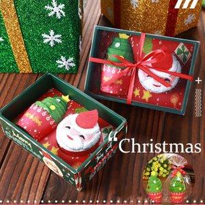 Санта-Клаус снеговика Рождественская елка хлопка Super Soft Полотенце Party Decor Xmas Gift Главная Room Полотенца Set