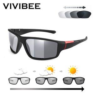 VİVİBEE erkekler spor güneş gözlüğü polarize 2019 Fotokromik klasik tasarım Mat Siyah gözlük kadın bukalemun sürüş güneş gözlüğü