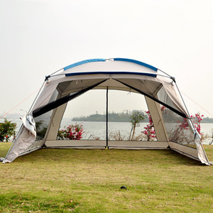 Risker 5-8 Person Ulterlarge 360 ​​* 360 * 220CM Single Layer großes Pavillon Sun Shelter Großes Markise Partyzelt Camping Familienzelt