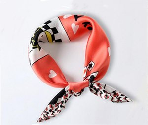 2020 new spring and summer silk scarves hair band professional scarves tied hair band sunscreen small square scarves