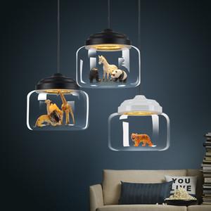 Moderne Glas LED Pendelleuchten Lichter Nordic Kronleuchter Beleuchtung Postmoderne minimalistische Tier Bar Lampen Schlafzimmer Esszimmer Hängelampen