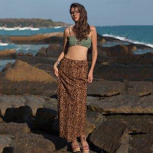 Femmes Leopard sauvage Imprimer taille haute Hip Jupe Eté 2020 Nouveau Sexy Robe Slim