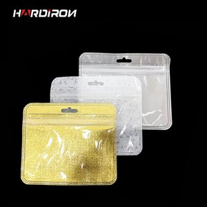 HARDIRON 12x10cm Vorplatz Transparente Fenster Perforieren hängenden Beutel Kopfbedeckung Hairpin staubdichte Plastikaufbewahrungsbeutel