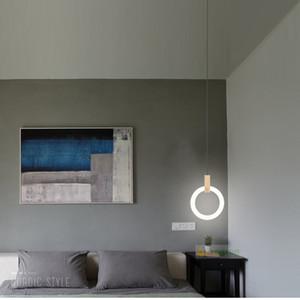 Moderna sala de estar LED lámparas suspendidas Accesorios de dormitorio de la novedad Nordic acrílico luces colgantes restaurante luces colgantes