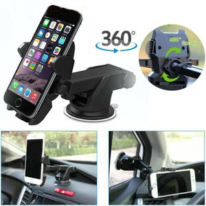 Os mais recentes Chegada Phone Holder GPS Windshield Mount Rotating 360 ° suporte Universal Car dashboard