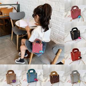 Çocuklar çanta PU Mini çanta parıltı bebek kız tek omuz çantaları mesaj torba bozuk para cüzdanı çocuklara hediyeler payet