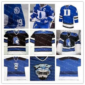 Пользовательские Duke Blue Devils NCAA Колледж Трикотажные изделия Человек Любое имя Любое число Хорошее качество Хоккей на льду Дешевые Джерси Королевский черный белый альтернативный S-4XL