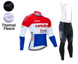 الشتاء 20120 فريق سيرك Corendon ركوب الدراجات جيرسي 19D هلام لوحة الدراجة سروال روبا ciclismo الرجال الصوف الحراري الملابس دراجة مايوه Culotte