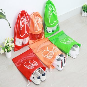 wholesale - New cute Drawstring Beam pockets shoes storage bags Shopping Bags Fashion Storages Bag Gifts Bags IA014
