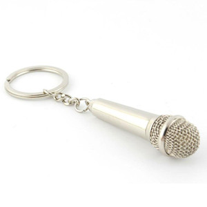 Cadeia Mini Alloy Microfone Key Pendant Keychain Party Favors para hóspedes presente Birthday Party Souvenirs Evento