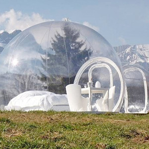 2019 New Inflatable Bubble Hotel 3M 4M 5M Dia Bubble Tent For Camping Beautiful Inflatable Igloo Tent Transparent Bubble Dome