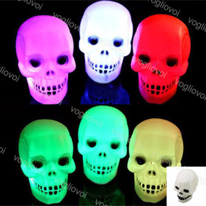 Decorações de Halloween Crânio Night Light Lamp Halloween colorido Truque Mini Decore partido do presente LED Flash Lamp EUB