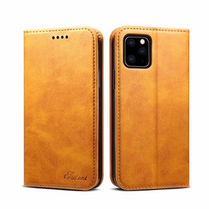 Hot new products for 2019 protective leather flip holster wallet phone case with card slot for iPhone and for Samsung