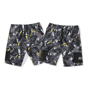Summer tooling shorts men's fashion casual camouflage 5 five points sports beach pants men's ins loose mid pants trend size M-2XL