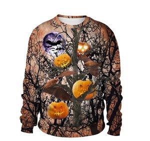 Sweatshirt Yeni Kişilik Popüler Kabak 3D Dijital Giyim Casual Çift Moda Giyim Cadılar Bayramı Erkek Designer yazdır