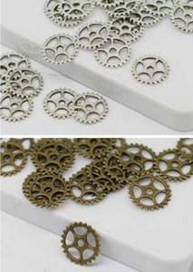 500 Pz lega Bella Mini Gear Argento Antico bronzo Pendente di Fascini Per la collana Monili Che Fanno risultati 15mm