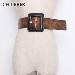 Coat Aksesuar Moda Tide Y191218 İçin Kadınlar Yüksek Bel Kare Toka Kadın Belt For CHICEVER Sonbahar Kış Baskı Hit Renkleri Kayışlar