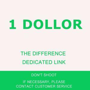 Maquillez à la différence Frais de fret Un yuan pour couvrir la différence la différence de lien dédié un dollar