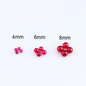 New 4mm 6mm 8mm Rubin Terp Pearls Insert Geeignet für Schrägkante Quarz Banger Nails Glasbongs Dab Rigs