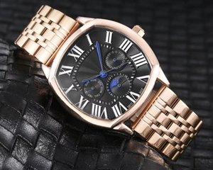New Designer Mens Watches Luxury Blue Glass Watch Men Watch Waterproof Strap Stainless Steel Metal Strap Men's Watch Male Clock relojes
