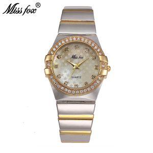 Miss Fox Reloj de Oro Marca de Moda Rhinestone Relogio Feminino Dourado Reloj Mujeres Xfcs Grils Superstar Relojes de rol originales Y19062402