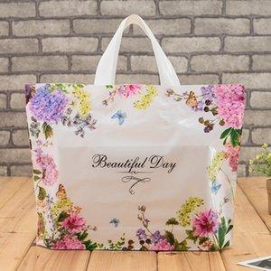 Plástico de compras Gift Bags Flower espessamento roupa pounch Partido Armazenamento de suprimentos de compras Food Packaging sacos de embalagem - 0074Pack