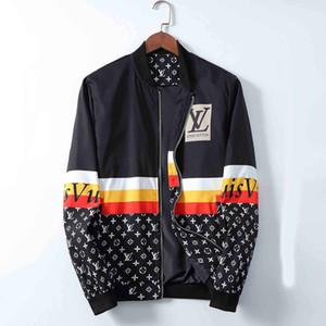 Nuova lettera mens bomber stampato mens giacca di lusso giubbotti firmati patchwork progettista degli uomini Giacca a vento di pietra giacca