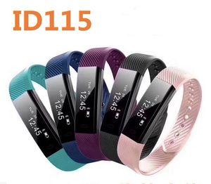 Hot ID115 inteligente Pulseiras de Fitness Rastreador Step Counter Activity Monitor Alarme Banda clock Vibration Coração monitorando Pulseira
