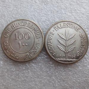 Palestine 100 Miles 1927-1942 Date de sélection Argent Plaqué Copie Décore dies d'artisanat de pièces de métal de fabrication Prix usine